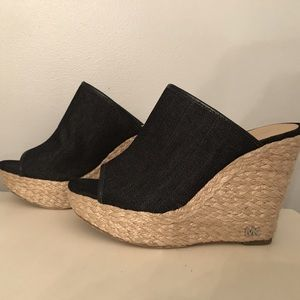 Michael Kors denim wedges size 8